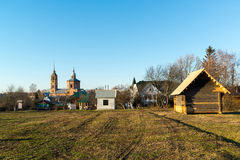 Suzdal, Russia - November 06, 2015.    Museum Wooden Architecture in  golden tourist ring. Suzdal, Russia - November 06, 2015.    Museum  of Wooden Architecture Stock Photography