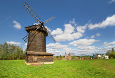 Suzdal, Russia. Old wooden windmill in Suzdal, Russia Stock Photography