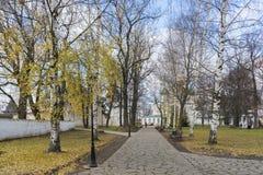 Suzdal', Russia -06 11 2015 Parco sul territorio Fotografia Stock