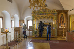 Suzdal, Russia -06. 11. 2015. The relics of St. Sophia of Suzdal - the wife Ivan Grozny - in Zachatievsky Church. Golden Ring Trav. Suzdal, Russia -06. 11. 2015 stock photo