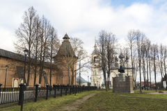Suzdal, Russia -06.11.2015. Square in front of St. Euthymius monastery at Suzdal was built 16th century. Royalty Free Stock Images