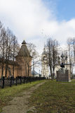 Suzdal, Russia -06.11.2015. Square in front of St. Euthymius monastery at Suzdal was built 16th century. Royalty Free Stock Photos