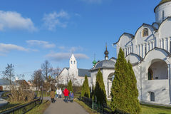 Suzdal, Russia -06.11.2015. St. Pokrovsky Monastery was built in  16th century. Golden Ring Travel Royalty Free Stock Images