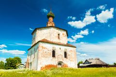 Suzdal, Russia: View of The Cosmas and Damian Church in Korovniki Stock Images