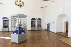 Suzdal, Russie -06 11 2015 Exposition des icônes russes dans le monastère de St Euthymius dans Suzdal Anneau d'or de voyage de la Image stock