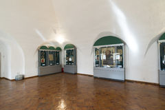 Suzdal, Russie -06 11 2015 Exposition des icônes russes dans le monastère de St Euthymius dans Suzdal Anneau d'or de voyage de la Photographie stock libre de droits