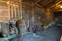 Suzdal, Russie - 6 novembre 2015 intérieur des maisons rurales dans l'architecture en bois de musée Photographie stock libre de droits