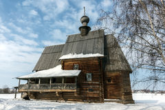 Suzdal. St. Nicholas wooden Church Royalty Free Stock Images
