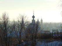 Suzdal-Straße auf dem Morgen Vladimir-Region Russland Stockfotos