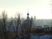 Suzdal street on the morning. Vladimir region Russia Stock Photos