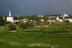 Thunderstorm over Suzdal  Royalty Free Stock Photo