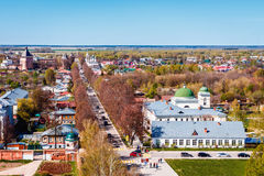Suzdal town from belfry at the center of the city Stock Images
