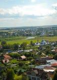 Suzdal' Vista della città da sopra Fotografia Stock Libera da Diritti