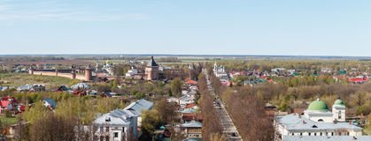 Suzdal town from belfry at the center of the city Stock Image