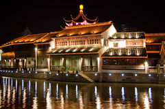 Suzhou. Traditional ancient town at night, suzhou, china stock photography