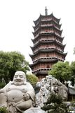 Suzhou. The Buddha at the North Temple Pagoda in Suzhou Royalty Free Stock Image