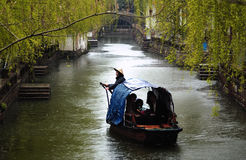 Suzhou ancient water town in rain Stock Image