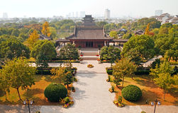 Suzhou at autumn. View of the Panmen Scenic Area in the south-west of the Suzhou Old Town, Jiangsu Province in Eastern China royalty free stock images