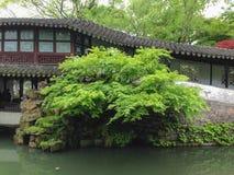 Suzhou, China, berühmte Touristenattraktionen, der Garten des bescheidenen Verwalters Lizenzfreie Stockfotos