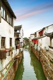 Suzhou ancient town night view Royalty Free Stock Photos