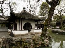 Pavillion in Humble Administrator`s Garden, one of the most famous classical gardens of Suzhou. Suzhou, China - March 23, 2016: Pavillion in Humble Administrator royalty free stock photography