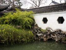 Lion Grove Garden, a classical Chinese garden and part of Unesco World Heritage in Suzhou royalty free stock photos