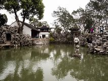 Lion Grove Garden, a classical Chinese garden and part of Unesco World Heritage in Suzhou royalty free stock image