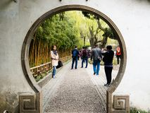 Springtime in Humble Administrator`s Garden, one of the most famous classical gardens of Suzhou. Suzhou, China - March 23, 2016: Springtime in Humble stock images