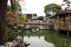 Lion Grove Garden, a classical Chinese garden and part of Unesco World Heritage in Suzhou stock photos