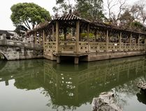 Lion Grove Garden, a classical Chinese garden and part of Unesco World Heritage in Suzhou. Suzhou, China - March 23, 2016: Springtime in Lion Grove Garden, a stock photography
