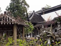 Lion Grove Garden, a classical Chinese garden and part of Unesco World Heritage in Suzhou. Suzhou, China - March 23, 2016: Springtime in Lion Grove Garden, a royalty free stock image