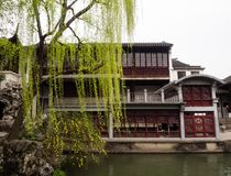 Lion Grove Garden, a classical Chinese garden and part of Unesco World Heritage in Suzhou. Suzhou, China - March 23, 2016: Springtime in Lion Grove Garden, a royalty free stock photography
