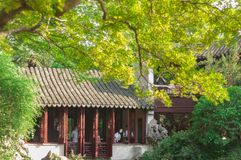 SUZHOU, CHINA - MEI 28.2017: Chinees paviljoen Royalty-vrije Stock Foto