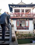 At the Zhouzhuang Water Town, Suzhou, China royalty free stock images
