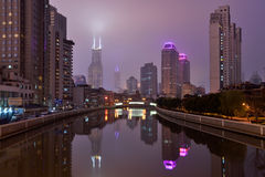Suzhou Creek, Шанхай Стоковые Изображения RF