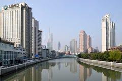 Suzhou Creek, Шанхай Стоковое Фото