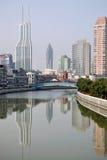 Suzhou Creek, Шанхай Стоковые Изображения