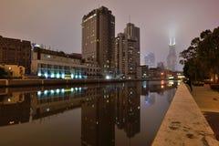 Suzhou Creek, Shanghai Fotografie Stock