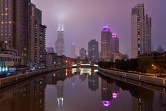 Suzhou Creek, Shanghai Immagini Stock Libere da Diritti