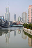 Suzhou Creek, Shanghai Immagini Stock