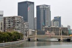 Suzhou Creek Shanghai Royaltyfri Foto