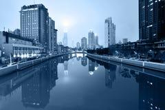 Suzhou Creek, Shanghai, China Royalty Free Stock Images