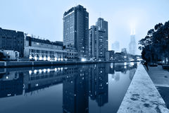 Suzhou Creek, Shanghai Stock Photo