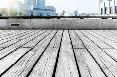 Suzhou Cultural Center Plaza. Wooden floor in the sunshine of the texture Stock Photo