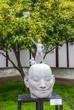 Suzhou Diguan parkerar show diagramen skulptur Arkivfoton
