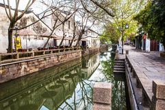 Suzhou folk houses and canals Royalty Free Stock Images