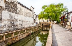 Suzhou folk houses and canals Stock Image