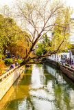 Suzhou folk houses and canals Stock Photography