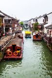 Suzhou folk houses and canals Stock Photos
