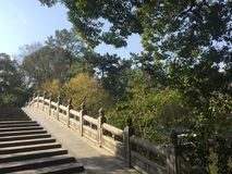 Stone arch bridge. Suzhou garden landscape, the representative style of Chinese classical architecture Royalty Free Stock Photography